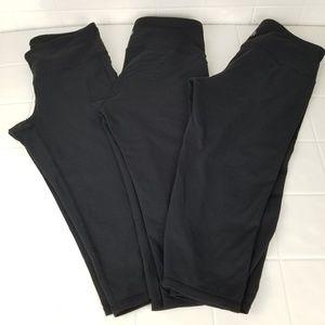 Lot of 3 size small Athleta Chaturanga Capri pants